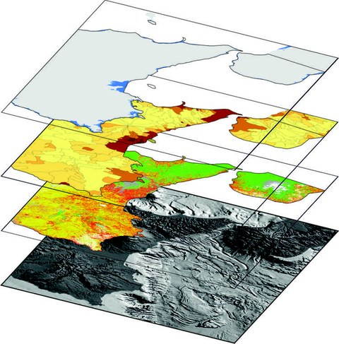 Beispiel für den vielschichtige, interdisziplinäre Ansatz zur Klassifizierung von bedrohten Gebieten im östlichen Sizilien.